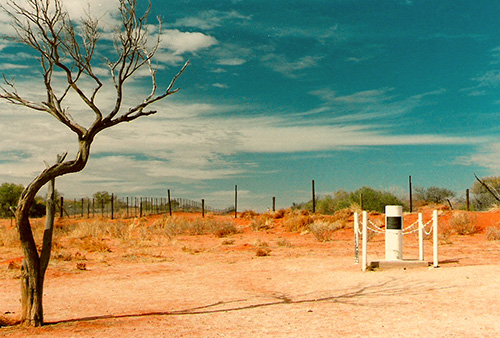 NSW and Qld border post