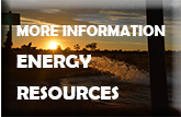 Sunset over landscape - text reads - More Information Energy Resources